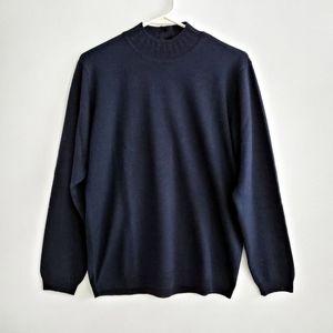 Talbots Wool Blend Navy Sweater